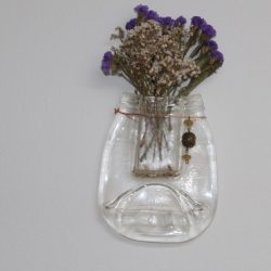 Smuckers Jar Wall Vase