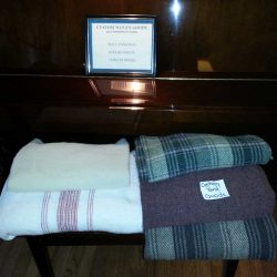 wool & cotton woven yard goods