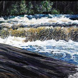 16-Acrylic-'High-Falls'-8x10-canvas-framed