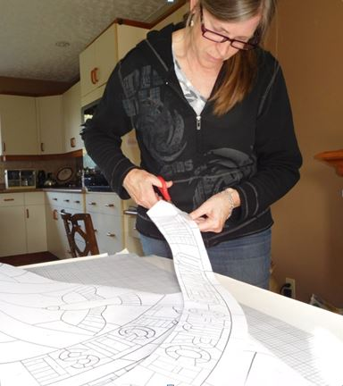 Cutting Stained Glass Pattern