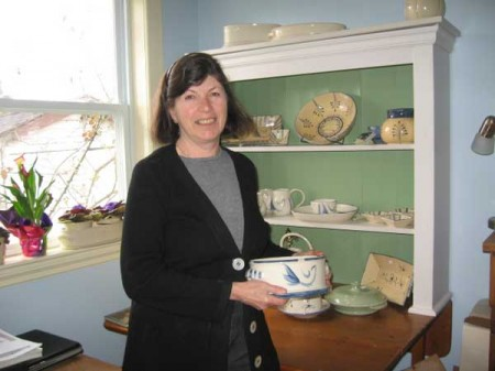 Suzanne with a casserole dish