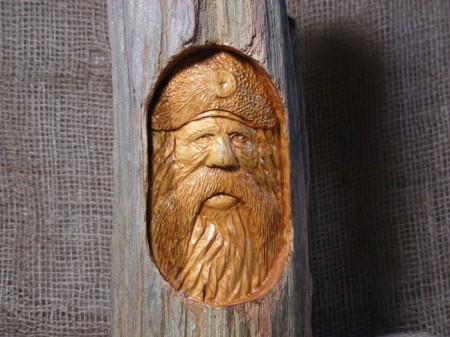 Bill van Koot carving